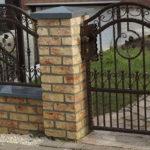 Zaun, feuerverzinkt und pulverbeschichtet, Hammerschlag Polen